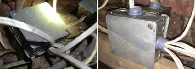 before and after electrical wiring job